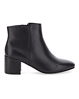 Soft Leather Block Heel Ankle Boots Extra Wide EEE Fit
