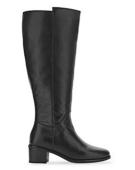 Leather High Leg Boots Wide E Fit Curvy Plus Calf Width