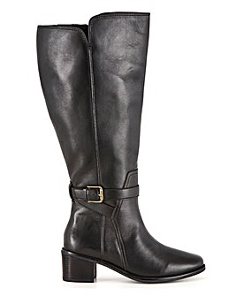Leather High Leg Boots Wide E Fit Super Curvy Calf Width