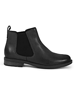 Leather Pull On Chelsea Boots Extra Wide EEE Fit