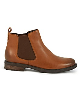 Leather Pull On Chelsea Boots Wide E Fit