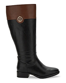 Riding Boots E Fit Ex Curvy Plus Calf