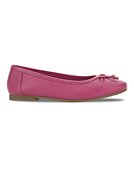 Leather Ballerina Shoes Extra Wide EEE Fit