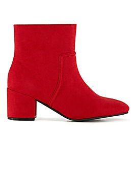 Flexi Sole Block Heel Ankle Boots Wide E Fit