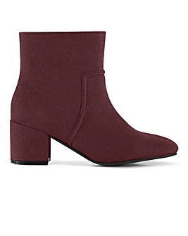 Flexi Sole Block Heel Ankle Boots Extra Wide EEE Fit