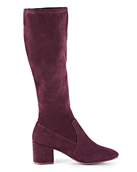 Stretch High Leg Boots Extra Wide EEE Fit Super Curvy Calf