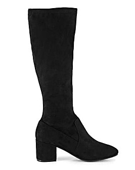 Stretch High Leg Boots Wide E Fit Standard Calf