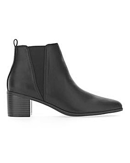 Pull On Side Elastic Ankle Boots Wide E Fit