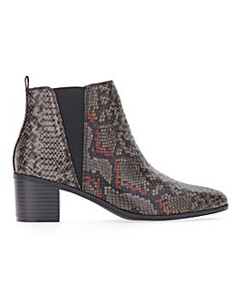 Pull On Side Elastic Ankle Boots Extra Wide EEE Fit