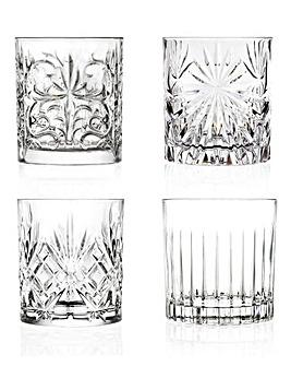 Mixology RCR Crystal Set of 4 Glasses