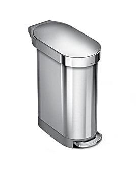 simplehuman 45L Slim Pedal Bin Steel