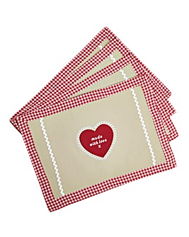 Homemade With Love Set of 4 Placemats