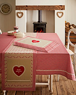 Homemade With Love Table Cloth