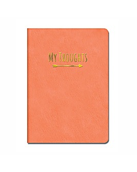 Leatherette My Thoughts Coral Journal