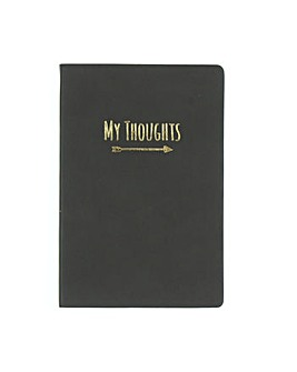 Leatherette My Thoughts Grey Journal