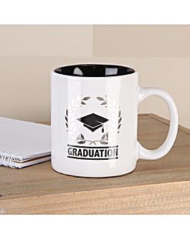 Black And White Graduation Mug