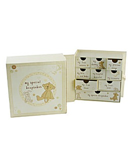 Button Corner Keepsake Box with Drawers