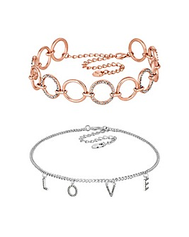 Lipsy Love Choker Set
