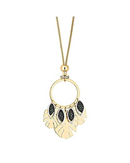 Mood Palm Leaf Drop Long Necklace
