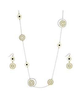 Mood Cut Out Flower Jewellery Set