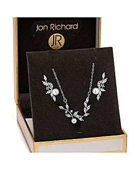 Jon Richard Pearl Vine Jewellery Set