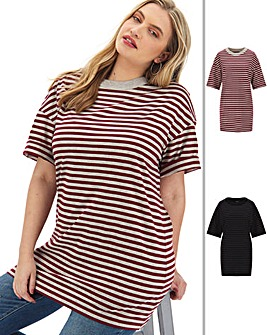 2 Pack Stripe Tunics