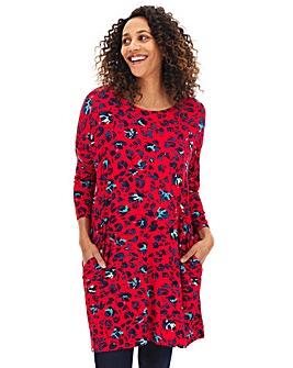 Red Animal Side Pocket Tunic