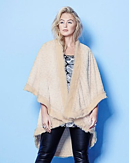 Lovedrobe Double Layer Faux Fur Cape