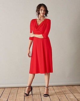 Scarlett & Jo Cowl Neck Jersey Dress