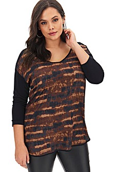 Leopard Woven Front Tunic