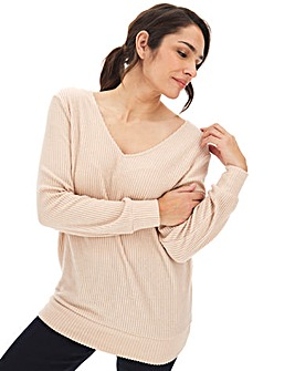 Oatmeal Knit Look Jumper