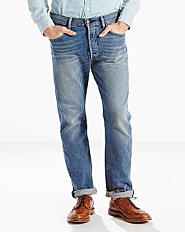 Levi's 501 Straight Fit Light Wash Jean 32 In