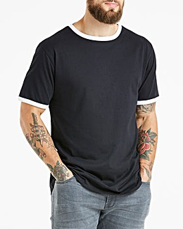 Ringer Crew Neck T-shirt Long