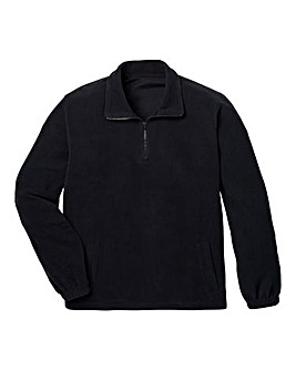 Capsule Black Basic Zip Neck Fleece R