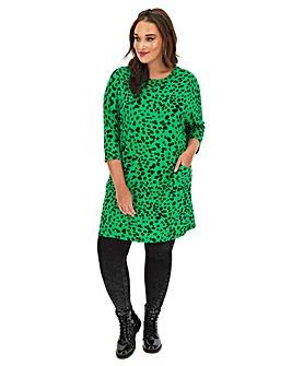 Jade Dalmation Print Oversized Tunic