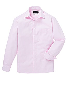 Double Two Pink L/S Grid Print Shirt R