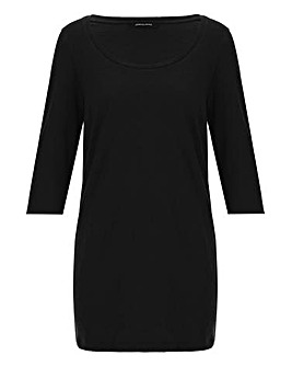 Cotton Slub 3/4 Sleeve Tunic