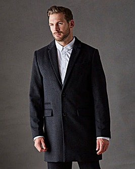 Black Label Checked Wool Smart Coat R