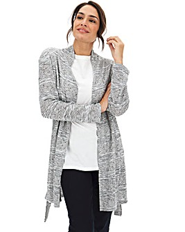 Grey Marl Knit Look Cardigan
