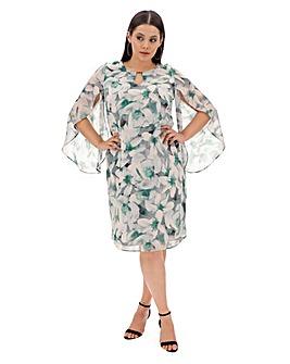 Joanna Hope Floral Tulip Sleeve Dress
