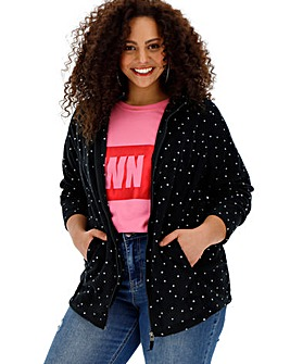 Polka Dot Fleece Jacket