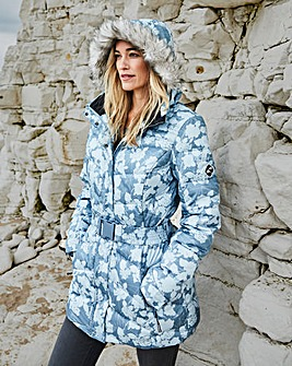 Snowdonia Aqua Print Down Filled Jacket
