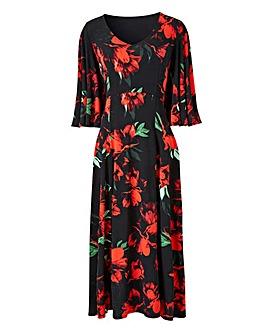 Joanna Hope Angel Sleeve Midi Dress