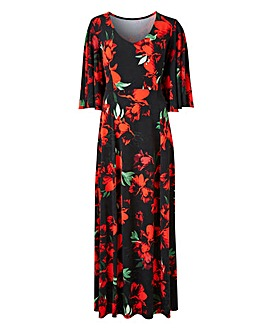 Joanna Hope Angel Sleeve Maxi Dress