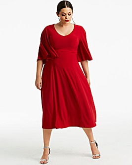 Joanna Hope Angel Sleeve Midi Dress