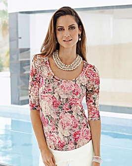 Together Print Lace Top