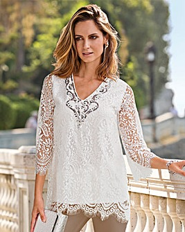 Together Lace Sequin Top