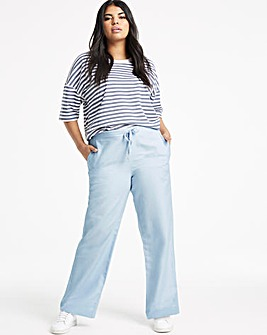 Petite Easy Care Linen Mix Trousers