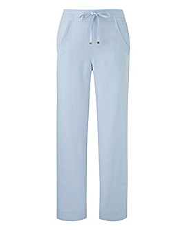 Extra PetiteEasy Care Linen Mix Trousers