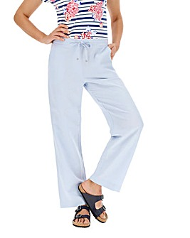 Easy Care Linen Mix Trousers Long